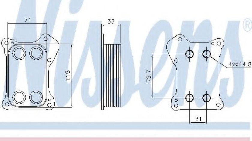 Radiator ulei, ulei motor FIAT DOBLO Microbus (223, 119) (2001 - 2016) NISSENS 90739 produs NOU