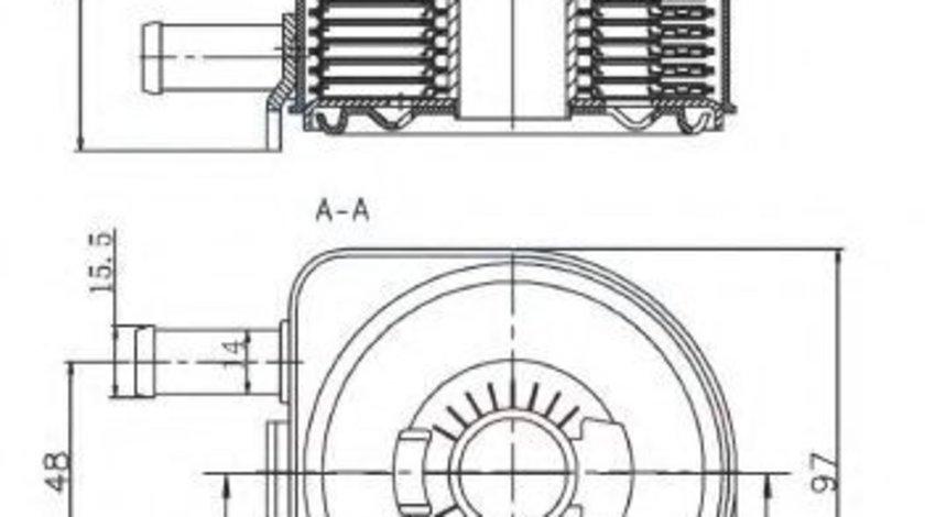 Radiator ulei, ulei motor FIAT DUCATO caroserie (244) (2002 - 2016) NRF 31735 produs NOU