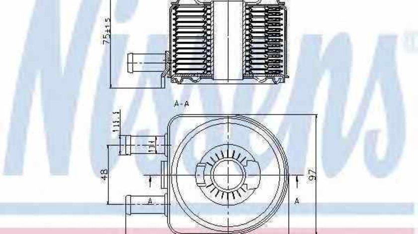 Radiator ulei ulei motor FIAT DUCATO caroserie 230L Producator NISSENS 90603