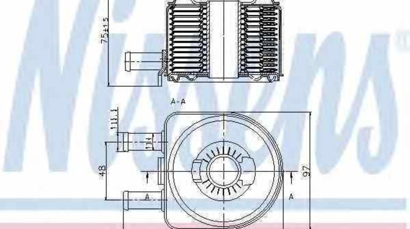 Radiator ulei ulei motor FIAT SCUDO caroserie 220L Producator NISSENS 90603