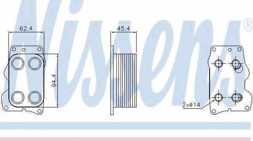Radiator ulei ulei motor FORD C-MAX DM2 LANCIA 9672654380