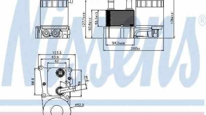 Radiator ulei ulei motor FORD TOURNEO CONNECT NISSENS 90696