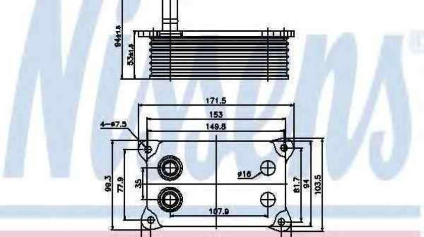 Radiator ulei ulei motor FORD TRANSIT bus FD FB FS FZ FC Producator NISSENS 90683
