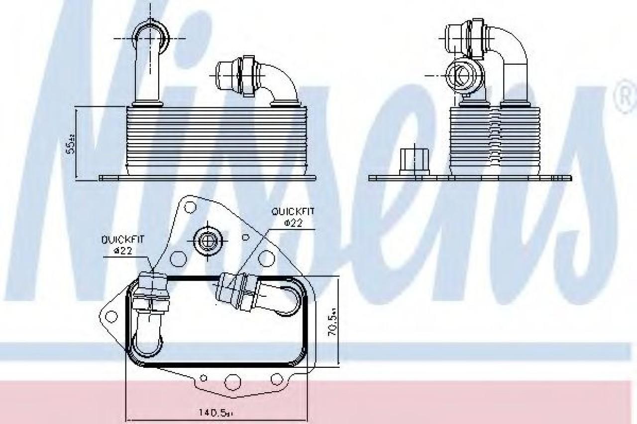 Radiator ulei, ulei motor LANCIA DELTA III (844) (2008 - 2014) NISSENS 90803 produs NOU