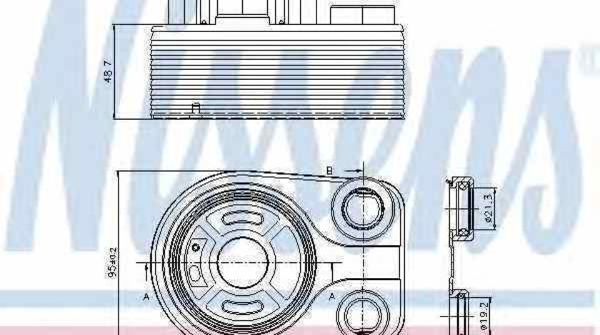Radiator ulei ulei motor MERCEDES-BENZ B-CLASS W246 W242 Producator NISSENS 90705