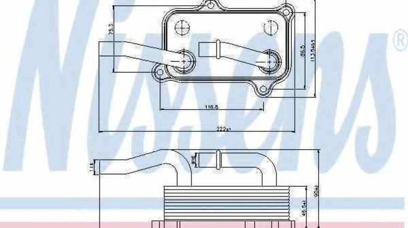 Radiator ulei ulei motor MERCEDES-BENZ E-CLASS W210 Producator NISSENS 90599