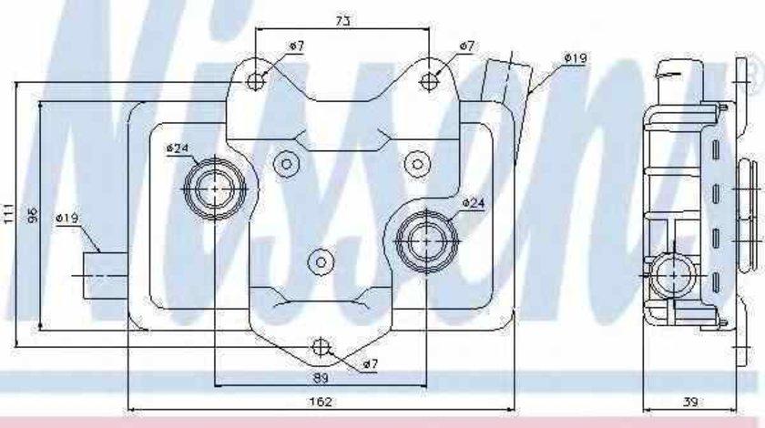 Radiator ulei ulei motor MERCEDES-BENZ SPRINTER 2-t platou / sasiu 901 902 Producator NISSENS 90618