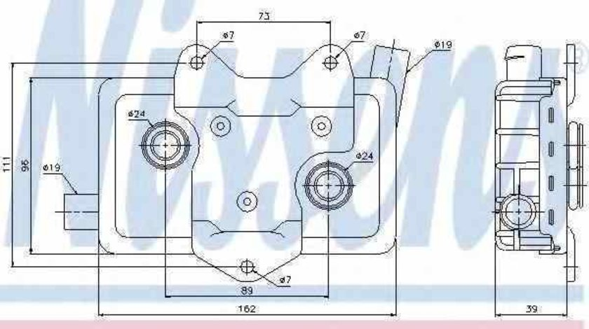 Radiator ulei ulei motor MERCEDES-BENZ VITO caroserie 638 Producator NISSENS 90618