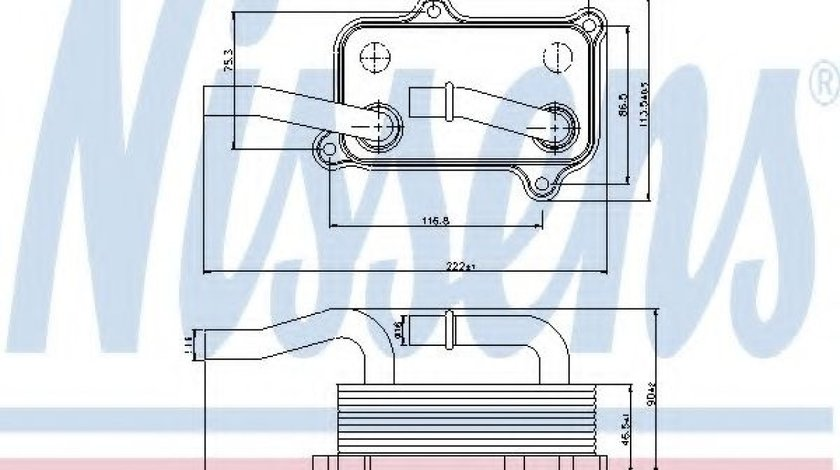 Radiator ulei, ulei motor MERCEDES C-CLASS (W202) (1993 - 2000) NISSENS 90599 piesa NOUA