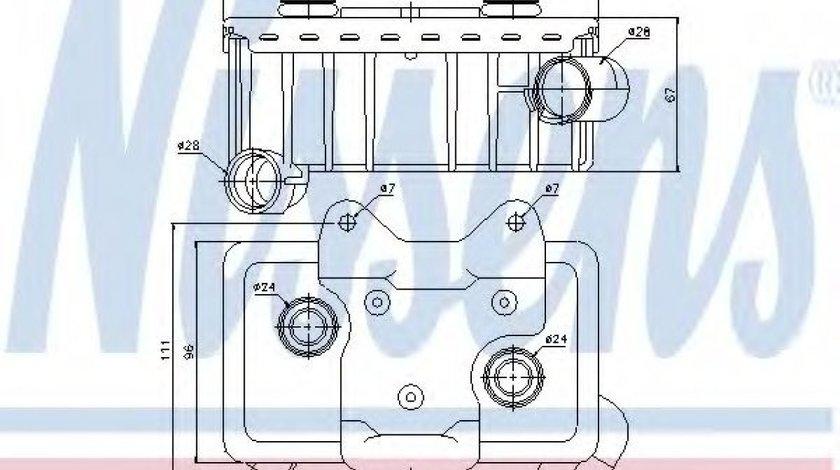 Radiator ulei, ulei motor MERCEDES C-CLASS (W202) (1993 - 2000) NISSENS 90582 piesa NOUA