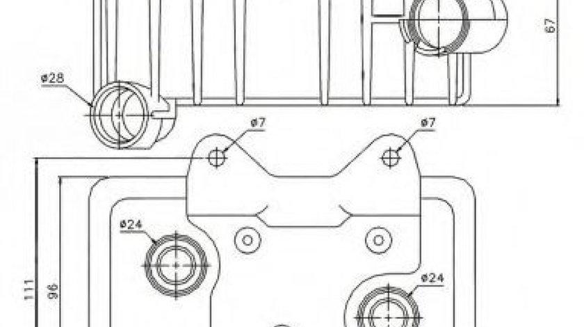 Radiator ulei, ulei motor MERCEDES C-CLASS (W202) (1993 - 2000) NRF 31181 piesa NOUA