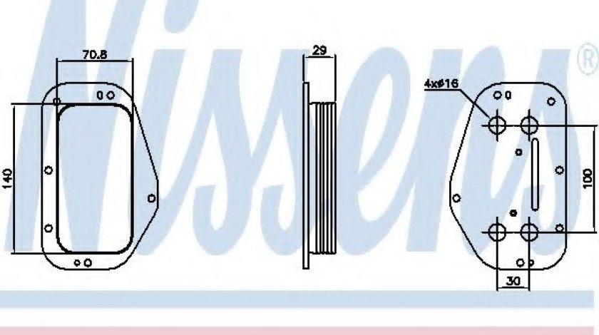 Radiator ulei, ulei motor OPEL ASTRA H GTC (L08) (2005 - 2016) NISSENS 90741 - produs NOU