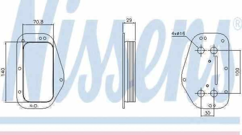 Radiator ulei ulei motor OPEL ASTRA H GTC L08 Producator NISSENS 90741