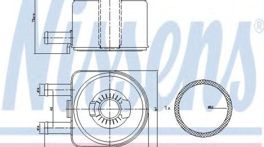 Radiator ulei, ulei motor PEUGEOT 306 Hatchback (7A, 7C, N3, N5) (1993 - 2003) NISSENS 90603 produs NOU