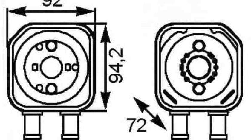 Radiator ulei ulei motor SKODA OCTAVIA 1U2 NRF 31179