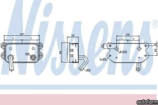 Radiator ulei ulei motor VOLVO XC90 I NISSENS 90580
