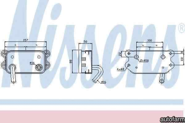 Radiator ulei ulei motor VOLVO XC90 I Producator NISSENS 90580