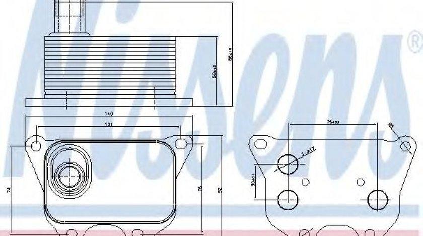 Radiator ulei, ulei motor VW AMAROK (2H, S1B) (2010 - 2016) NISSENS 90659 produs NOU