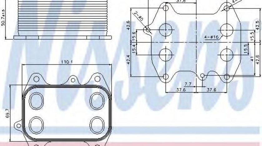 Radiator ulei, ulei motor VW AMAROK (2H, S1B) (2010 - 2016) NISSENS 90681 produs NOU
