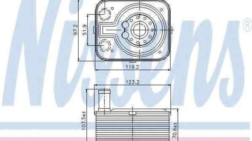 Radiator ulei, ulei motor VW CADDY III combi (2KB, 2KJ, 2CB, 2CJ) NISSENS 90655