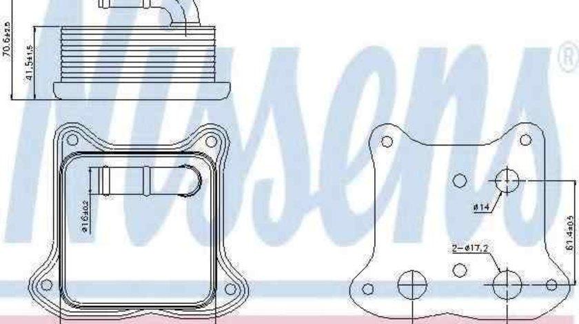 Radiator ulei, ulei motor VW GOLF VI (5K1) NISSENS 90680