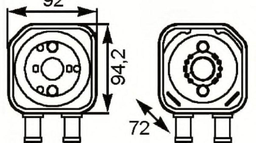 Radiator ulei, ulei motor VW PASSAT CC (357) (2008 - 2012) NRF 31179 produs NOU