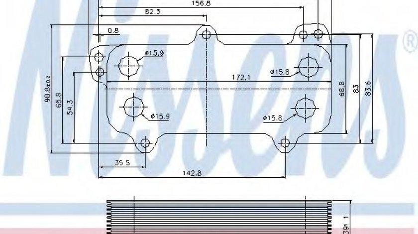 Radiator ulei, ulei motor VW TOUAREG (7LA, 7L6, 7L7) (2002 - 2010) NISSENS 90684 produs NOU
