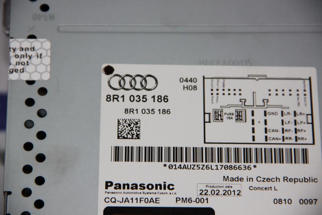 Radio CD Audi Q5 8R 2008-2016 8R1035186