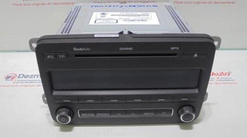 Radio cd cu mp 3, 5J0035161C, Skoda Fabia 2
