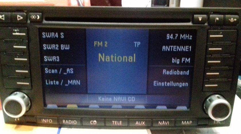 Radio CD cu navigație, original VW TOUAREG 7H0 035 191 FX (7 612 002 618) BNO 881