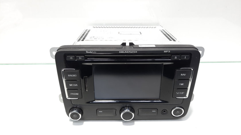 Radio CD cu navigatie si mp3, cod 3T0035192J, Skoda Superb II (3T4) (id:461896)