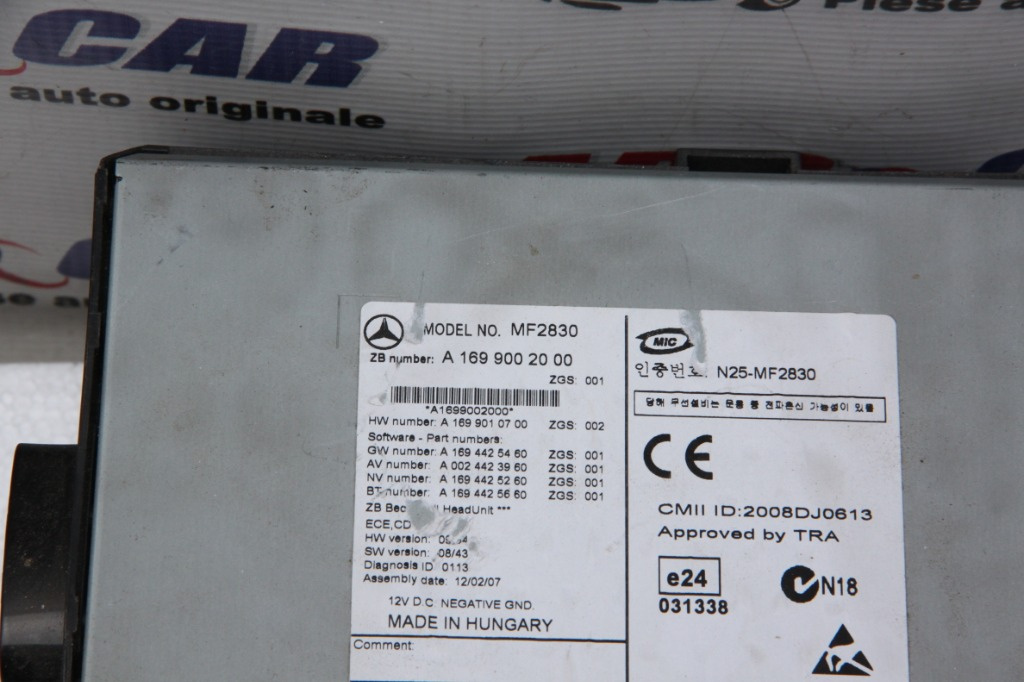 Radio CD Mercedes A-Class W169 cod: A1699002000 2004-2011