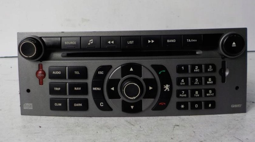 Radio CD MP3 player Peugeot 407 an 2004 - 2018 cod 96565708YW
