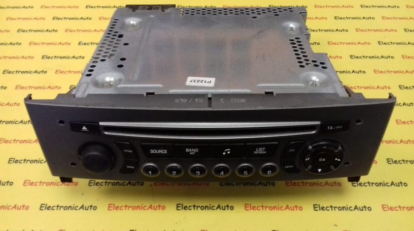 Radio CD Peugeot 308, 96662671XH (6WK5)