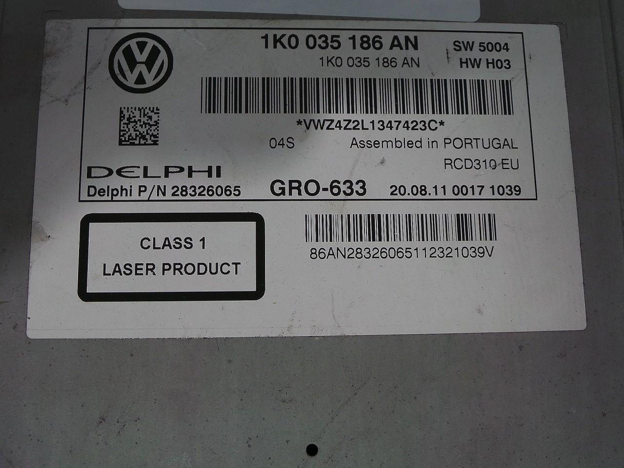 RADIO CD VW PASSAT CC PASSAT CC - (2008 2012)
