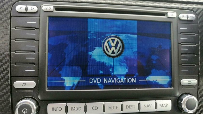 Radio cu navigatie original VW, CD / DVD player, 1K0 035 198 C (RNS2 MFD2)