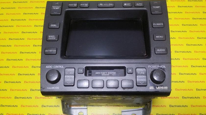 Radio, Display Navigatie Lexus GS, 8611130180, 1340000840C101, 16200032