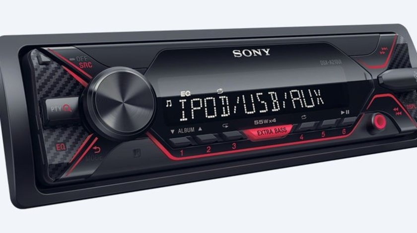 Radio MP3 Player auto Sony DSXA210UI, 4 x 55 W, USB, AUX AutoCars