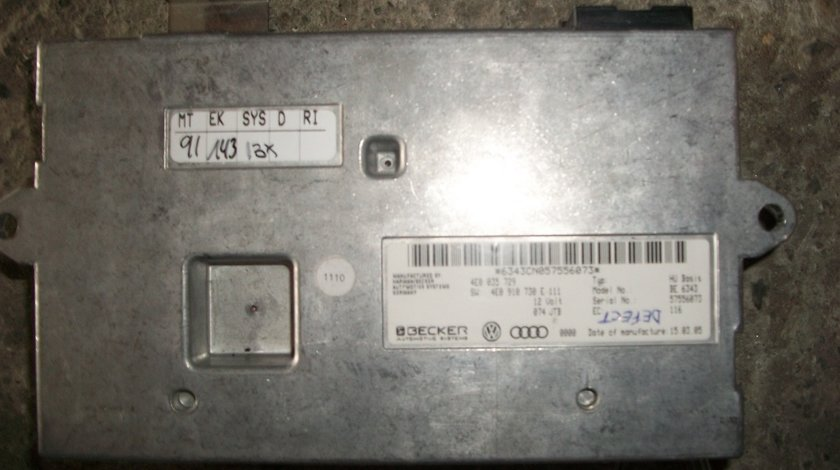 Radiobox MMI Audi A8 4.2i