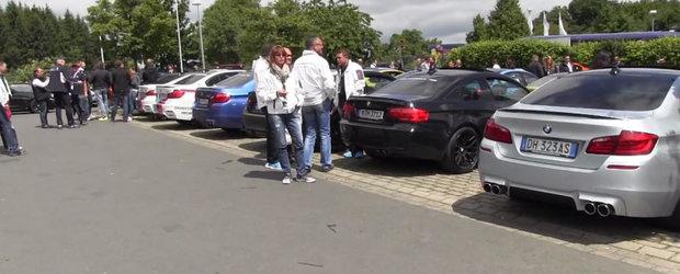 Raiul fanilor BMW: Parcarea cu cele mai multe M-uri pe metrul patrat