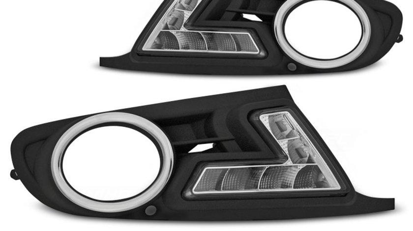 Rama proiector VW Golf 6 cu DRL Negru pe LED