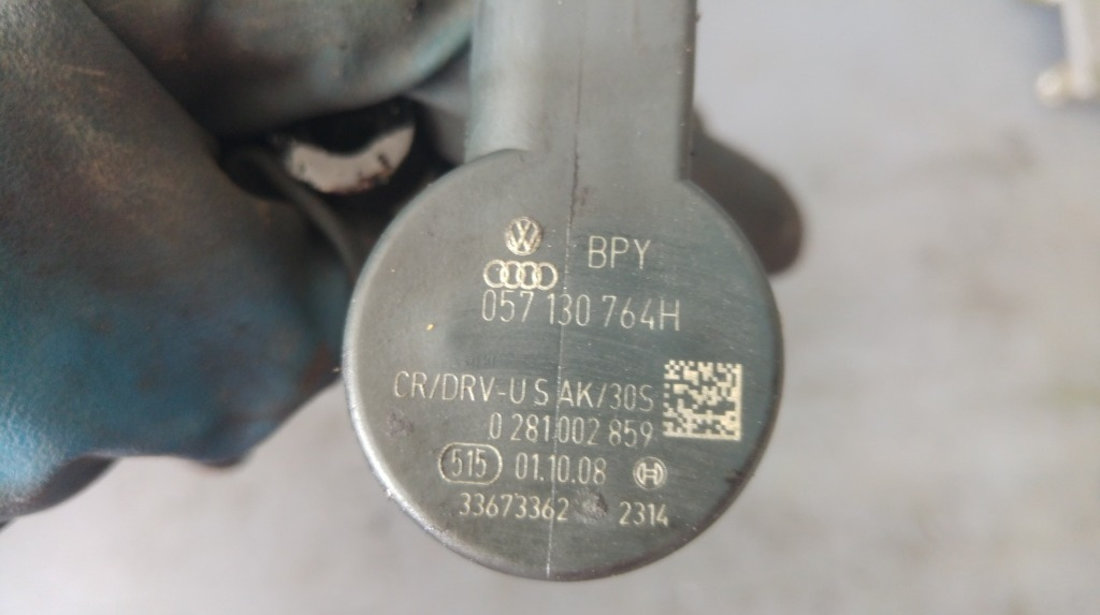 Rampa injectoare dreapta cu senzor audi a6 4f 2.7 tdi 059130090ah 057130764h
