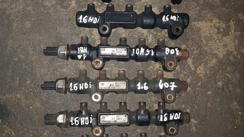 Rampa injectoare peugeot 207 1.6 hdi 9hz 110 cai cod 9654592680