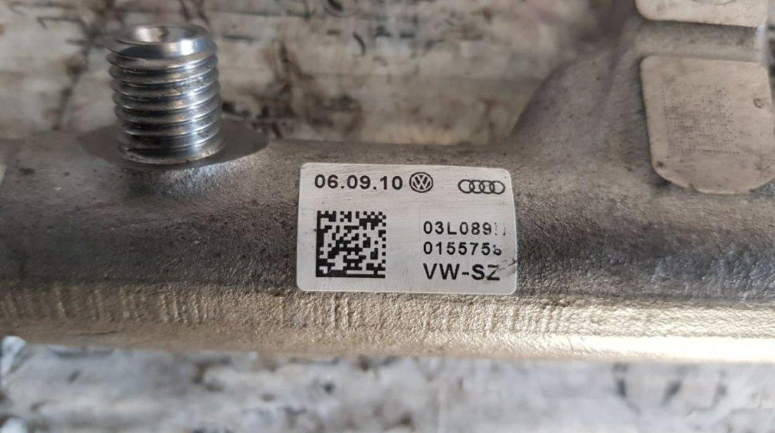 Rampa injectoare Skoda Fabia II 1.6 tdi 105 cai motor CAYC cod piesa : 03L130089B