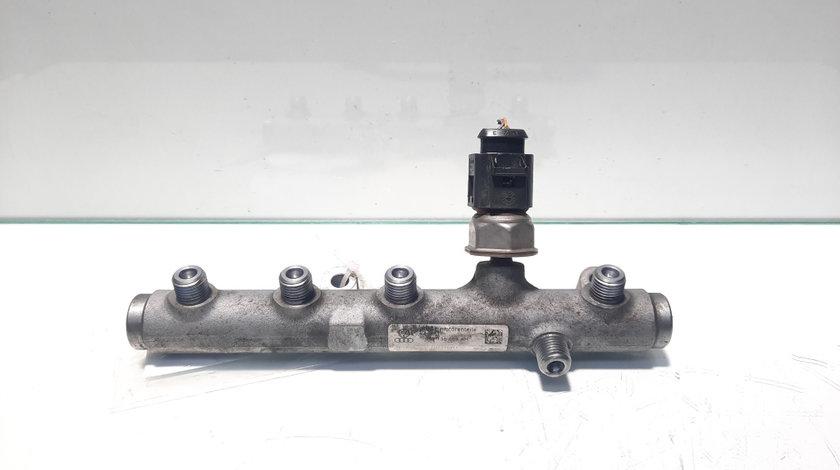 Rampa injectoare stanga cu senzor, cod 059130089AH, Audi A5 Cabriolet (8F7) 2.7 tdi, CGK