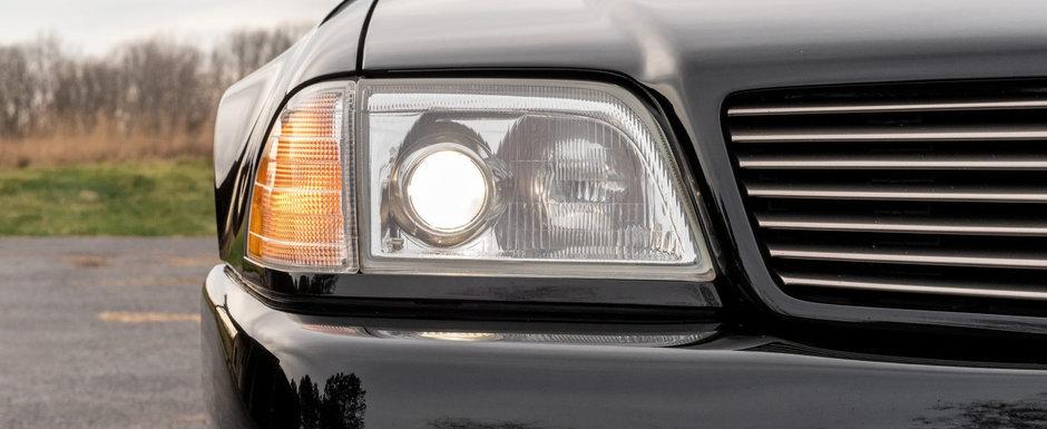 Rar se intampla sa gasesti unul de vanzare. Mercedes-ul din 1993 are motor V12 de 7.4 litri