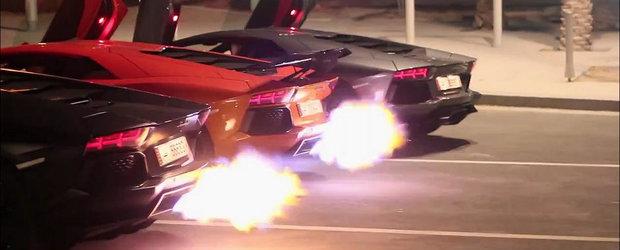 Razboiul evacuarilor: Trei Lamborghini-uri nimicesc linistea noptii
