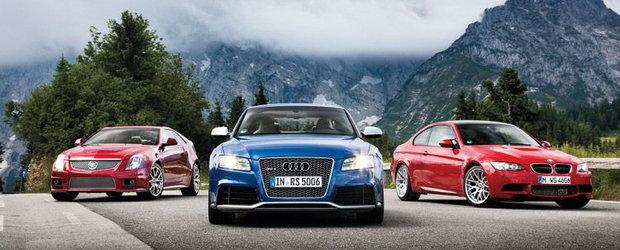 Razboiul germano-american: Audi RS5 vs. BMW M3 vs. Cadillac CTS-V Coupe