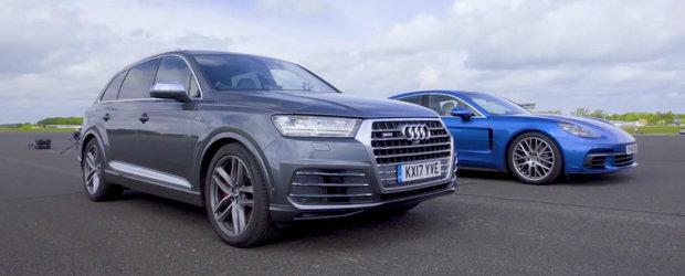 Razboiul motoarelor TDI se da intre Audi SQ7 si noul Porsche Panamera 4S Diesel. Cine trece primul linia de sosire