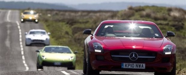 Razboiul Supercarurilor: Mercedes SLS AMG isi intalneste rivalii